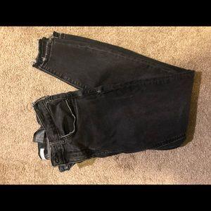 Zara black jeans with distress detailing